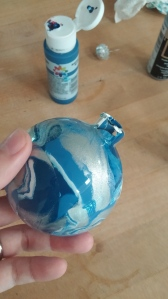 glass Christmas ornament almost finished