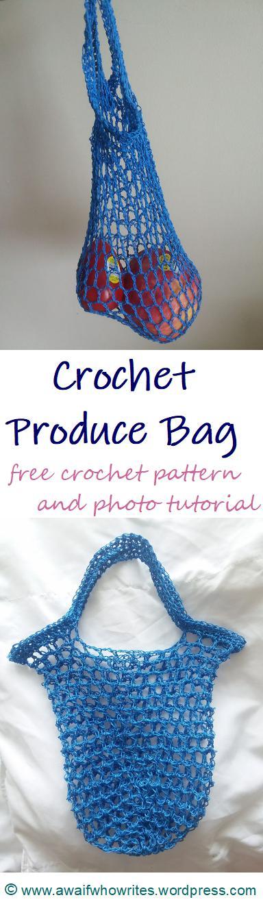 Crochet Produce Bag | free crochet produce bag and photo tutorial